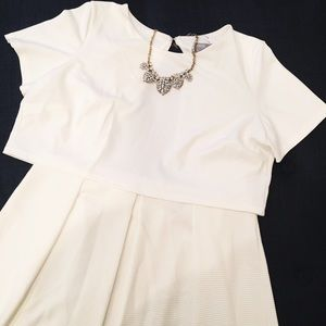 "NWT ✨ ASOS White Open-Back ""Crop Top"" Dress"